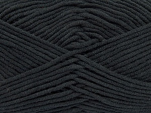 Fiber Content 55% Cotton, 45% Acrylic, Brand ICE, Black, Yarn Thickness 4 Medium  Worsted, Afghan, Aran, fnt2-45136