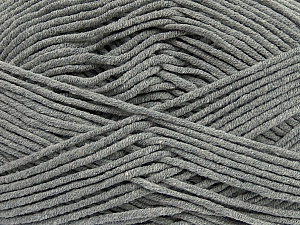 Fiber Content 55% Cotton, 45% Acrylic, Brand ICE, Grey, Yarn Thickness 4 Medium  Worsted, Afghan, Aran, fnt2-45137