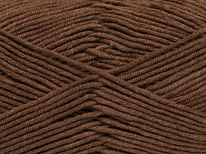 Fiber Content 55% Cotton, 45% Acrylic, Brand ICE, Brown, Yarn Thickness 4 Medium  Worsted, Afghan, Aran, fnt2-45139