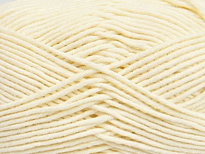 Fiber Content 55% Cotton, 45% Acrylic, Brand ICE, Cream, Yarn Thickness 4 Medium  Worsted, Afghan, Aran, fnt2-45143