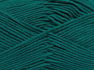 Fiber Content 55% Cotton, 45% Acrylic, Teal, Brand ICE, Yarn Thickness 4 Medium  Worsted, Afghan, Aran, fnt2-45144