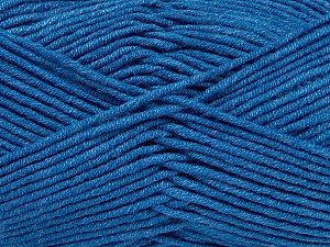 Fiber Content 55% Cotton, 45% Acrylic, Brand ICE, Blue, Yarn Thickness 4 Medium  Worsted, Afghan, Aran, fnt2-45150