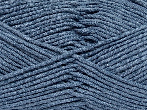 Fiber Content 55% Cotton, 45% Acrylic, Jeans Blue, Brand ICE, Yarn Thickness 4 Medium  Worsted, Afghan, Aran, fnt2-45151