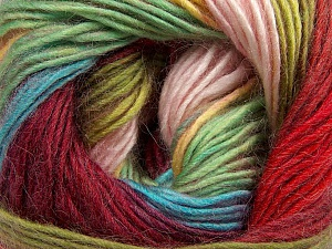 Fiber Content 40% Wool, 30% Acrylic, 30% Mohair, Yellow, Red, Pink, Brand ICE, Green, Burgundy, Blue, Yarn Thickness 3 Light  DK, Light, Worsted, fnt2-45802