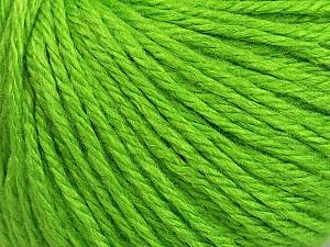Fiber Content 40% Merino Wool, 40% Acrylic, 20% Polyamide, Brand ICE, Green, Yarn Thickness 3 Light  DK, Light, Worsted, fnt2-45817