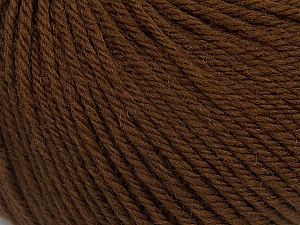 SUPERWASH MERINO EXTRAFINE is a DK weight, 100% extra fine Italian-style superwash merino wool making it extremely soft, as well as durable.  High twist and smooth texture gives unbelievable stitch definition making this a good choice for any project that you want to show off your stitch work. Projects knit and crocheted in SUPERWASH MERINO EXTRAFINE are machine washable! Lay flat to dry. Do not bleach. Do not iron Fiber Content 100% Superwash Extrafine Merino Wool, Brand Ice Yarns, Brown, Yarn Thickness 3 Light  DK, Light, Worsted, fnt2-46395