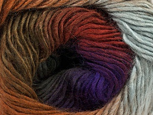 Fiber Content 50% Acrylic, 50% Wool, Purple Shades, Khaki, Brand ICE, Grey, Brown Shades, Yarn Thickness 2 Fine  Sport, Baby, fnt2-46630