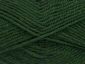 Fiber Content 60% Acrylic, 40% Wool, Brand Ice Yarns, Dark Green, Yarn Thickness 3 Light  DK, Light, Worsted, fnt2-46740