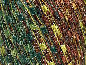 Trellis  Fiber Content 95% Polyester, 5% Lurex, Silver, Brand ICE, Green Shades, Brown Shades, Yarn Thickness 5 Bulky  Chunky, Craft, Rug, fnt2-46800