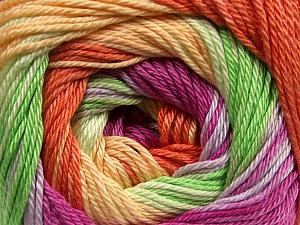 Fiber Content 100% Mercerised Cotton, Yellow, Orchid, Orange, Brand ICE, Green, Yarn Thickness 2 Fine  Sport, Baby, fnt2-47020