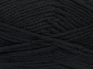 Fiber Content 50% Acrylic, 25% Wool, 25% Alpaca, Brand ICE, Black, Yarn Thickness 5 Bulky  Chunky, Craft, Rug, fnt2-47129