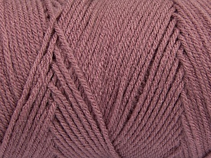 Items made with this yarn are machine washable & dryable. Fiber Content 100% Dralon Acrylic, Brand ICE, Dark Rose Pink, Yarn Thickness 4 Medium  Worsted, Afghan, Aran, fnt2-47189