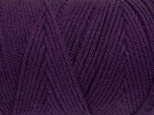 Items made with this yarn are machine washable & dryable. Fiber Content 100% Dralon Acrylic, Purple, Brand ICE, Yarn Thickness 4 Medium  Worsted, Afghan, Aran, fnt2-47195
