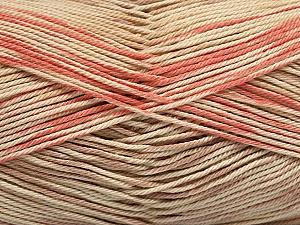 Fiber Content 100% Mercerised Cotton, Salmon, Brand ICE, Cream, Beige, Yarn Thickness 2 Fine  Sport, Baby, fnt2-48624