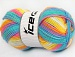Baby Wool Design Yellow White Turquoise Pink Blue
