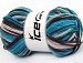 Natural Cotton Color Worsted White Turquoise Maroon Blue