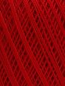 Ne: 10/3 Nm: 17/3 Fiber Content 100% Mercerised Cotton, Red, Brand ICE, Yarn Thickness 1 SuperFine  Sock, Fingering, Baby, fnt2-49564