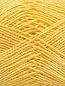 Ne: 8/4. Nm 14/4 Fiber Content 100% Mercerised Cotton, Light Yellow, Brand ICE, Yarn Thickness 2 Fine  Sport, Baby, fnt2-49602