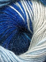 Fiber Content 57% Premium Acrylic, 3% Metallic Lurex, 20% Wool, 20% Mohair, Brand ICE, Blue Shades, Yarn Thickness 2 Fine  Sport, Baby, fnt2-50304