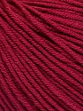 Fiber Content 60% Cotton, 40% Acrylic, Brand ICE, Burgundy, Yarn Thickness 2 Fine  Sport, Baby, fnt2-51210