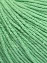 Fiber Content 60% Cotton, 40% Acrylic, Mint Green, Brand ICE, Yarn Thickness 2 Fine  Sport, Baby, fnt2-51226
