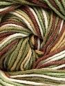 Fiber Content 55% Cotton, 45% Acrylic, White, Khaki, Brand ICE, Brown, Beige, Yarn Thickness 3 Light  DK, Light, Worsted, fnt2-51443
