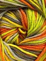 Fiber Content 55% Cotton, 45% Acrylic, Yellow, Orange, Brand ICE, Green, Camel, Yarn Thickness 3 Light  DK, Light, Worsted, fnt2-51446