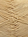 Ne: 8/4. Nm 14/4 Fiber Content 100% Mercerised Cotton, Brand ICE, Cream, Yarn Thickness 2 Fine  Sport, Baby, fnt2-51637