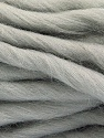 Fiber Content 100% Superwash Wool, Light Grey, Brand ICE, Yarn Thickness 6 SuperBulky  Bulky, Roving, fnt2-51672