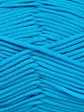 This is a tube-like yarn with soft fleece inside. Fiber Content 73% Viscose, 27% Polyester, Turquoise, Brand ICE, Yarn Thickness 5 Bulky  Chunky, Craft, Rug, fnt2-52046
