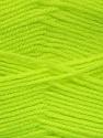 Fiber Content 100% Acrylic, Neon Yellow, Brand ICE, Yarn Thickness 3 Light  DK, Light, Worsted, fnt2-52070