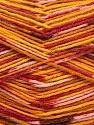 Fiber Content 50% Superwash Merino Wool, 25% Bamboo, 25% Polyamide, Yellow, Pink, Orange, Brand ICE, Gold, Yarn Thickness 1 SuperFine  Sock, Fingering, Baby, fnt2-52391