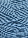 Fiber Content 70% Acrylic, 30% Wool, Light Blue, Brand ICE, Yarn Thickness 4 Medium  Worsted, Afghan, Aran, fnt2-52613