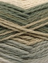 Fiber Content 70% Acrylic, 30% Wool, Khaki, Brand ICE, Grey, Cream, Beige, Yarn Thickness 4 Medium  Worsted, Afghan, Aran, fnt2-53552