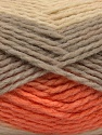 Fiber Content 70% Acrylic, 30% Wool, Orange, Brand ICE, Grey, Cream, Yarn Thickness 4 Medium  Worsted, Afghan, Aran, fnt2-53554