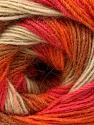 Fiber Content 60% Acrylic, 20% Wool, 20% Angora, Salmon, Orange, Light Brown, Brand ICE, Cream, Yarn Thickness 2 Fine  Sport, Baby, fnt2-53557