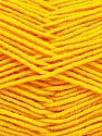 Fiber Content 70% Acrylic, 30% Wool, Yellow, Brand ICE, Yarn Thickness 4 Medium  Worsted, Afghan, Aran, fnt2-53718