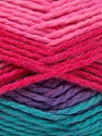 Fiber Content 70% Acrylic, 30% Wool, Turquoise, Pink Shades, Lilac, Brand ICE, Yarn Thickness 4 Medium  Worsted, Afghan, Aran, fnt2-54678