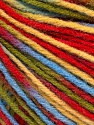 Fiber Content 50% Acrylic, 50% Wool, Yellow, Red, Brand ICE, Green, Blue, Yarn Thickness 3 Light  DK, Light, Worsted, fnt2-56213