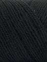 Fiber Content 50% Wool, 50% Acrylic, Brand ICE, Black, Yarn Thickness 3 Light  DK, Light, Worsted, fnt2-56422