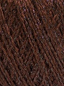 Fiber Content 85% Viscose, 15% Metallic Lurex, Brand ICE, Dark Brown, Yarn Thickness 3 Light  DK, Light, Worsted, fnt2-57034