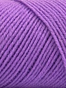 Fiber Content 50% Wool, 50% Acrylic, Lilac, Brand ICE, Yarn Thickness 3 Light  DK, Light, Worsted, fnt2-57177