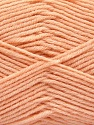 Fiber Content 80% Acrylic, 20% Polyamide, Light Orange, Brand ICE, Yarn Thickness 3 Light  DK, Light, Worsted, fnt2-57381