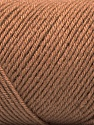 Fiber Content 50% Wool, 50% Acrylic, Brand ICE, Camel, Yarn Thickness 3 Light  DK, Light, Worsted, fnt2-57729