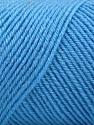 Fiber Content 50% Wool, 50% Acrylic, Light Blue, Brand ICE, Yarn Thickness 3 Light  DK, Light, Worsted, fnt2-57731