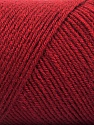 Fiber Content 50% Wool, 50% Acrylic, Brand ICE, Burgundy, Yarn Thickness 3 Light  DK, Light, Worsted, fnt2-57735