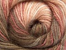 Fiber Content 50% Mohair, 50% Acrylic, White, Salmon Shades, Brand ICE, Brown Shades, Yarn Thickness 2 Fine  Sport, Baby, fnt2-58358