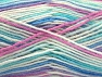 Fiber Content 75% Acrylic, 25% Wool, White, Turquoise, Pink, Lilac, Brand ICE, Blue, Yarn Thickness 3 Light  DK, Light, Worsted, fnt2-58425