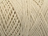 Fiber Content 100% Cotton, Brand ICE, Ecru, Yarn Thickness 4 Medium  Worsted, Afghan, Aran, fnt2-60144
