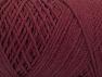 Fiber Content 100% Cotton, Brand ICE, Burgundy, Yarn Thickness 4 Medium  Worsted, Afghan, Aran, fnt2-60151